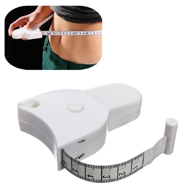 1 ピース体脂肪減量測定格納式定規 150 センチフィットネス正確な測定テープアクセサリー