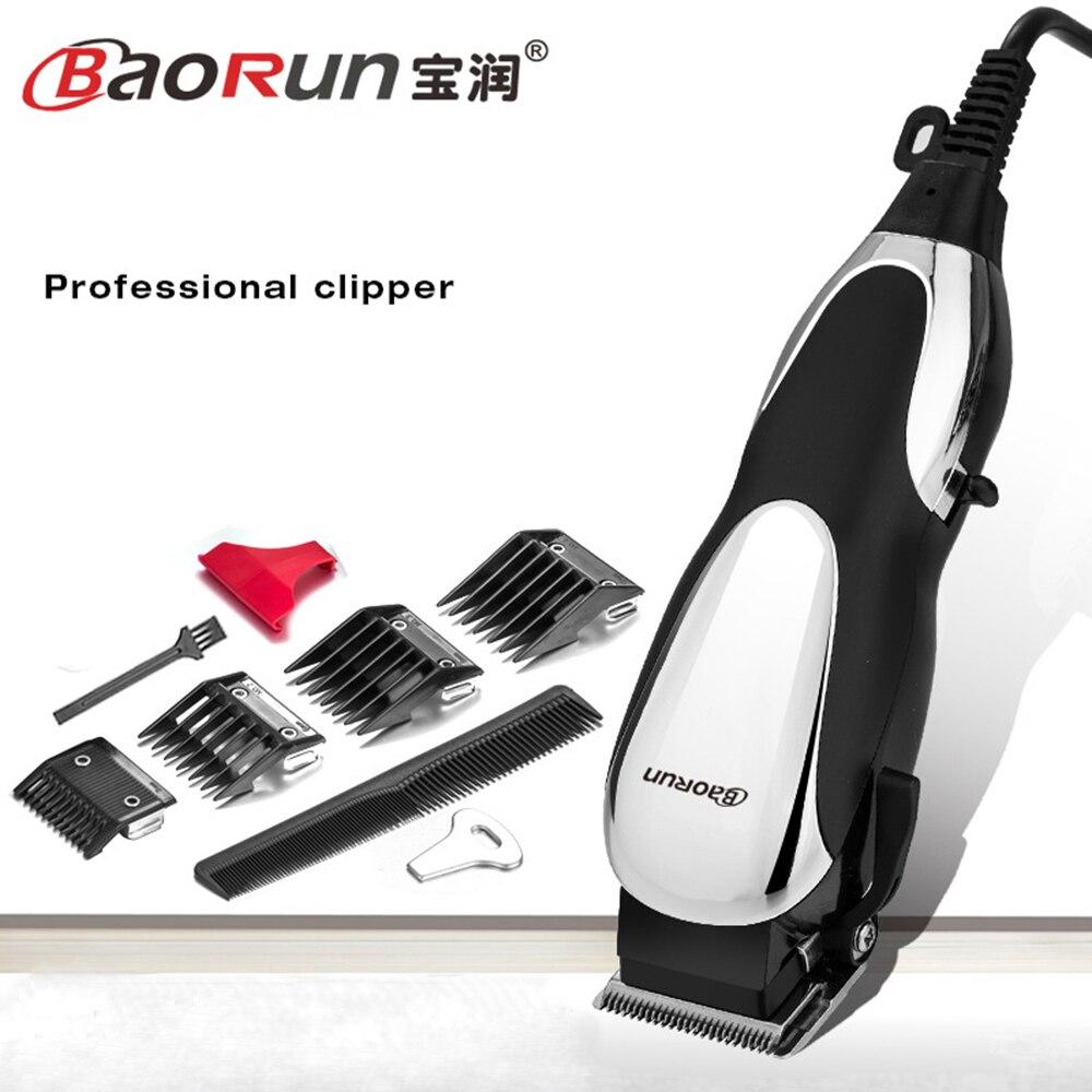 Baorun profesional Mute gran potencia eléctrica Clippers familia peluquería pelo Cúter máquina con alambre