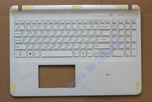 Russian keyboard FOR SONY VAIO SVF152 FIT15 SVF15 SVF153 SVF15E White RU Laptop C Shell palmrest cover