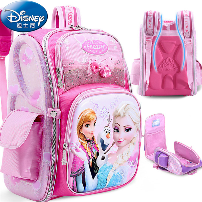 Disney 2018 Frozen&Snow White Protect the Spine Backpacks Fashion Schoolbag Kids Backpac ...