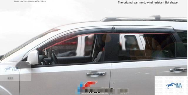 For Fiat Freemont 2011-2014 Window Visors Awnings Wind Rain Deflector Visor Guard Vent 4 pcs / set