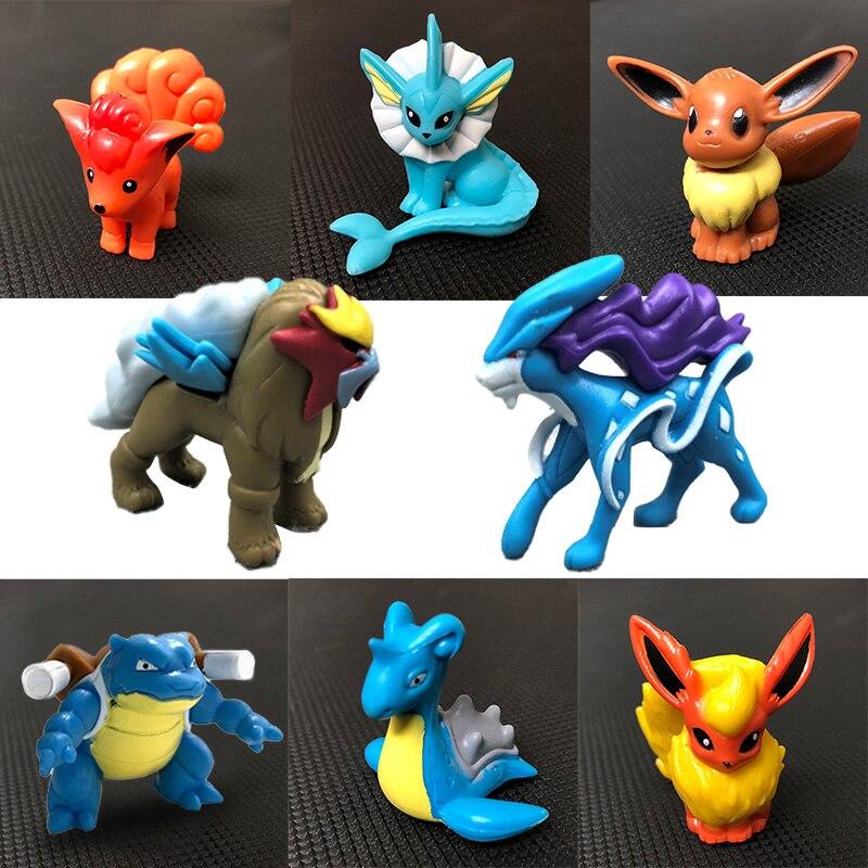 Blastoise Eevee Suicune Frogadier Lapras anime cartoon action & toy figures Collection model toy KEN HU STORE pks