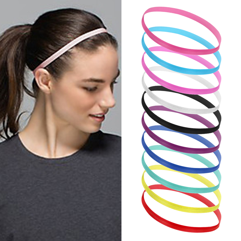 LASPERAL Sports Headband Yoga-Hair-Bands Gym Fitness Elastic Slim Women Anti-Slip Thin
