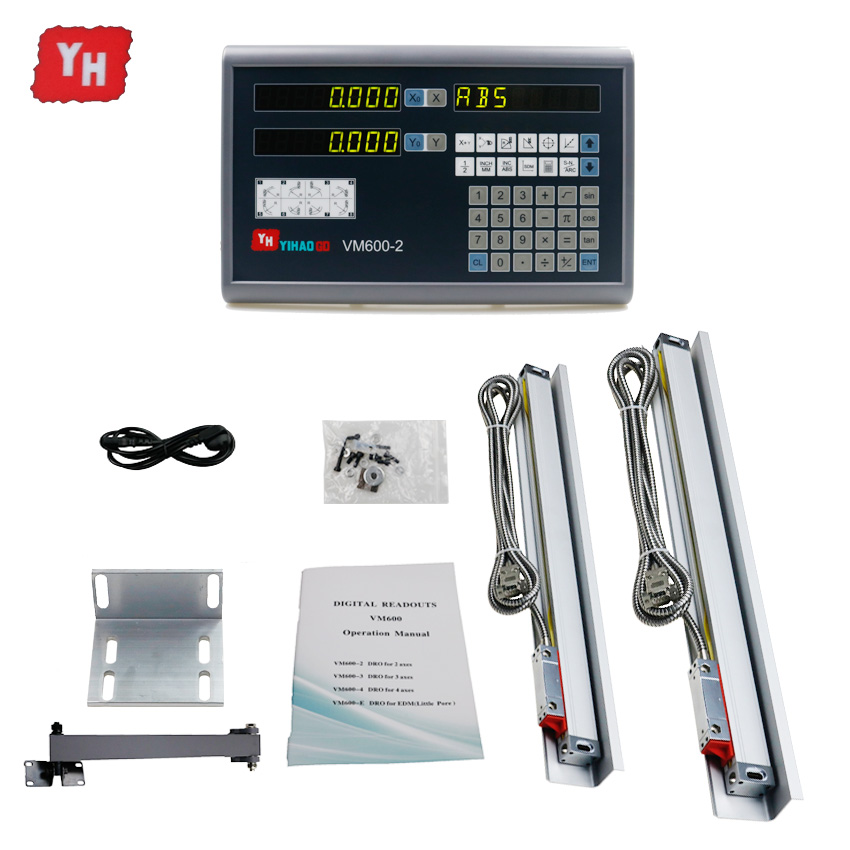 Completa Da Máquina ferramenta Conjunto de Eixos de Leitura Digital Dro 2 2 pcs 5u escalas lineares/codificador/sensor 250 350 450 550 650 750 850 950