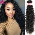 Малайзии Вьющихся Волос Tissage Малайзии 1 шт. Короткие Вьющиеся Weave Человеческих Волос Вьющиеся Крючком Волос