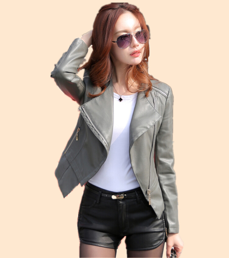 Popular Gray Leather Jacket-Buy Cheap Gray Leather Jacket lots