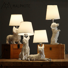 Nordic Danish retro bedroom bedside table lamp Creative personality Study decoration table lamp children room cute Puppy lamp modern minimalist ice table lamp creative bedroom bedside table lamp nordic study fashion personality desktop lighting