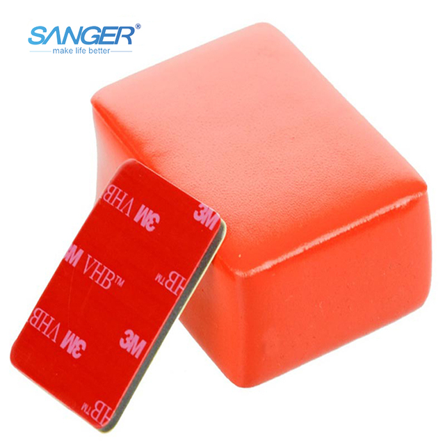 SANGER for Gopro Accessories Sticker Floaty Sponge Float Backdoor for Xiaomi Yi 4K Go Pro Hero 5 4 3+ 3 Sjcam sj 4000 with 3M