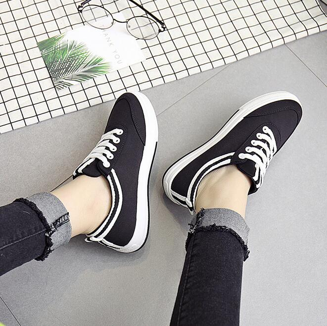 Women Shoes New Fashion Flat Shoes Canvas Shoes Breathable Leisure Casual Flats Ladies Shoes Multicolor zapatos mujer chaussures qmn women crystal embellished natural suede brogue shoes women square toe platform oxfords shoes woman genuine leather flats