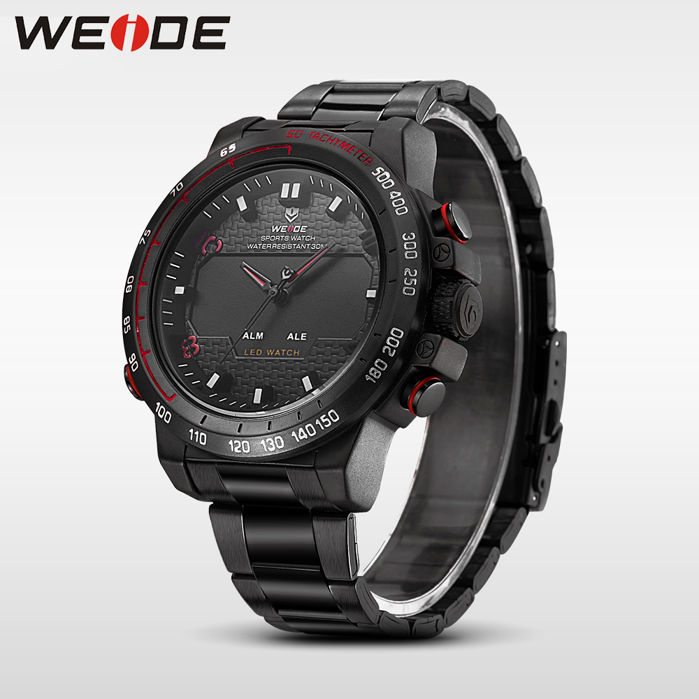 WEIDE steel series watches mens watches brand luxury sport led digital shockproof waterproof watch quartz watch military clock weide mens watches luxury men quartz digital sport watchr waterproof new style watches relogio military multiple time zone watch