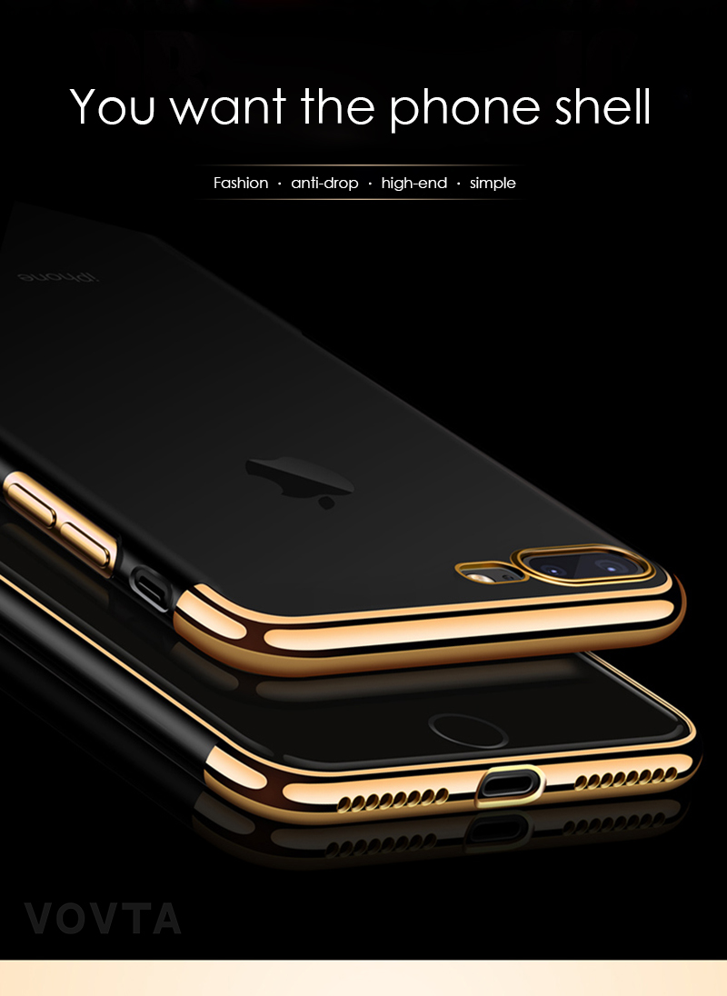 VOVTA Luxury Anti-Knock Cases For iPhone 6 8 7 Plus Case Plating Shockproof Full Cover For iphone 7 6s 8 Plus Phone Case2