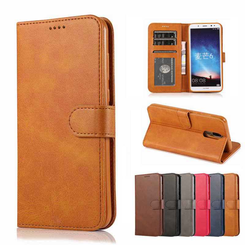 Cases For Huawei Mate 10 Lite Nova 2i Cover Case Luxury Vintage Magnetic Flip Leather Phone Bags For Huawei Nova 2i Mate 10 Lite