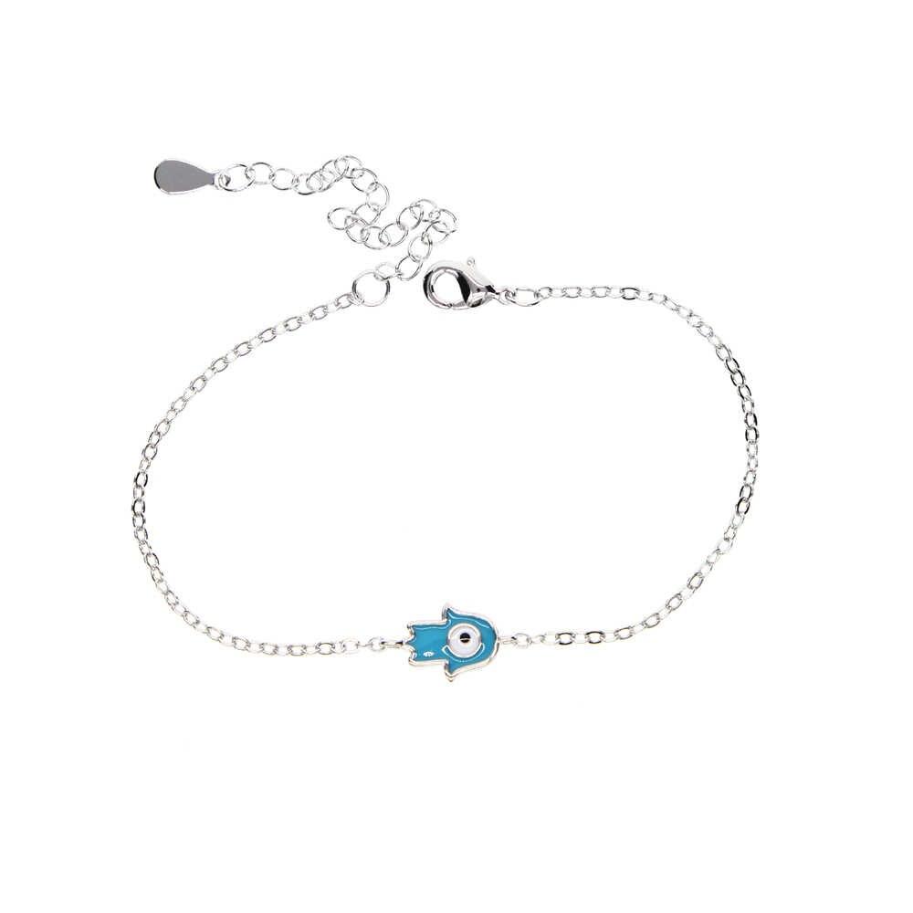 Bonne chance charme main de Fatima bracelets pour Femme turquie Protection bijoux Hamsa mauvais œil Talisman émail Bracelet Femme