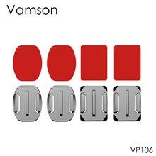 Vamson аксессуары крепление 8 шт. плоское изогнутое поверхностное крепление клей для Gopro Hero7 6 5 4 для Xiaomi для yi для камеры SJCAM VP106