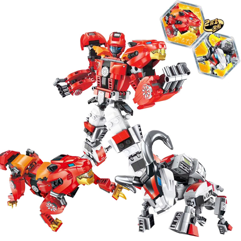 SLPF Deformation Machine Compatible Legoings City Transformation Series Robot DIY Figures Bricks Boy Gifts Toys For Children C26 in Model Building Kits from Toys Hobbies