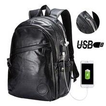 Luggage Bags - Backpacks - New Men Backpacks Casual Backpack For Teenagers Large Capacity School Bags Vintage Shoulder Bag Leather Laptop Bag Mochilas