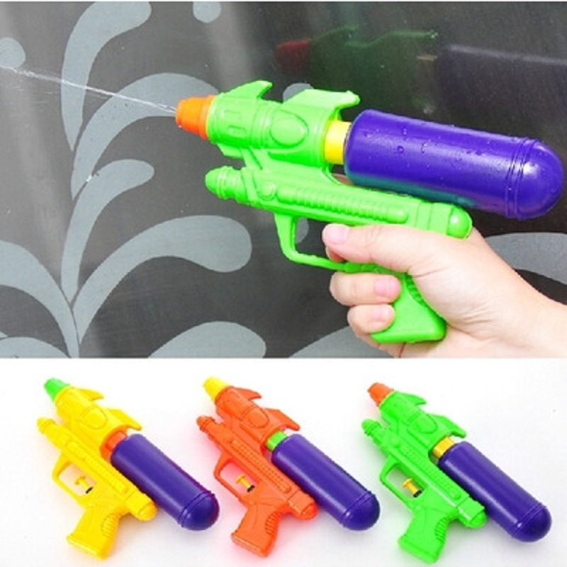 Water Guns Toys Classic Outdoor Beach Water Pistol Blaster Gun Portable Squirt Gun Kids Beach Toys For Child Summer Beach Games(China)