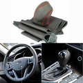 Top Cowhide Sew-on Genuine Leather Steering Wheel Cover For KIA K5 11-12 AT