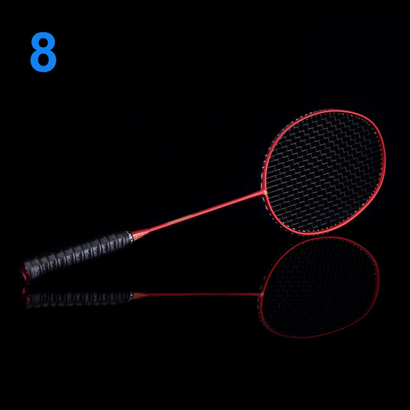Ultralight 6U Badminton Racket Professional Carbon Portable Free Grips Sports FK88