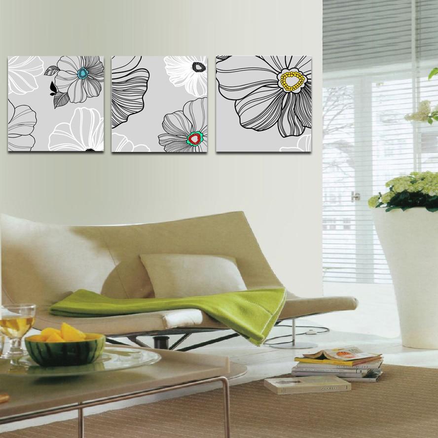 Fabulous design semplice colori fiori pittura stampa for Pittura soggiorno moderno
