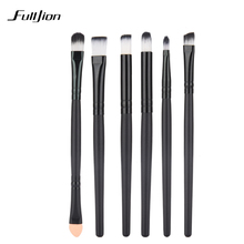 6 PCS Professional Makeup Brushes Cosmetics Eye Shadows Eyeliner Nose Smudge Brush Tool Set Kit for eye makeup brushes