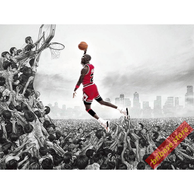 Cuadro de Baloncesto Michael Jordan palyer Photo Print poster Figura ...