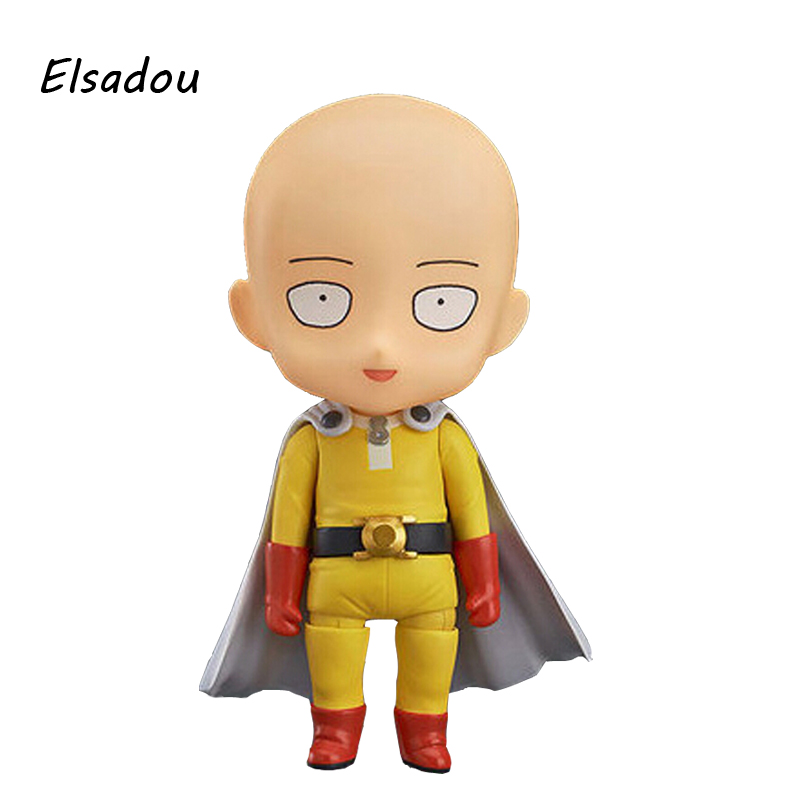 "One Punch Man Saitama Sensei Nendoroid Doll PVC Model Doll Toy Action & Toy Figures 4"" 10cm"
