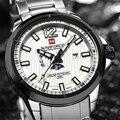 Naviforce Famosa Marca de Relojes de Pulsera de Lujo A Estrenar de Acero Calendario Reloj Deporte Militar Impermeable Relogio masculino