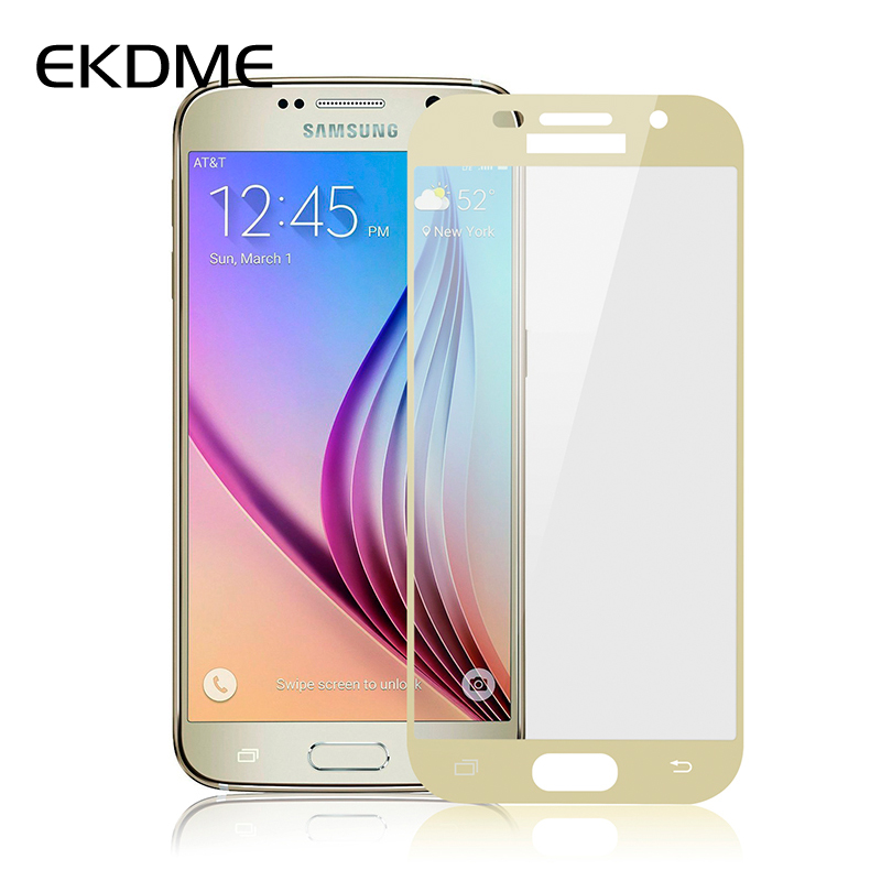 EKDME 9H Full Cover Screen Protector Protective Film For Samsung Galaxy A5 Plus 2017 J5 J7 S7 S6 J2 2016 A3 A5 A7 Tempered Glass