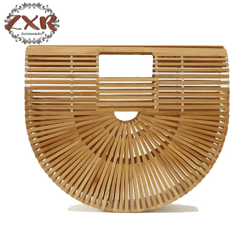 Ladies Hollow Summer Beach Bag Fashion Women Bamboo Handbag Summer Female Purse Handmade Woven Beach Bag Girls Wood Bag цены