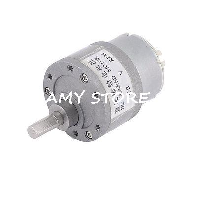 цена на 200RPM 2 Terminals 6mm Shaft Dia Electric Gearbox Geared Motor 12VDC