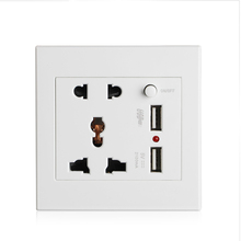 цена на Universal Standard 2.1A USB Wall Socket Home Wall Charger 2 Ports USB Outlet Power Charger Socket Switch Panel