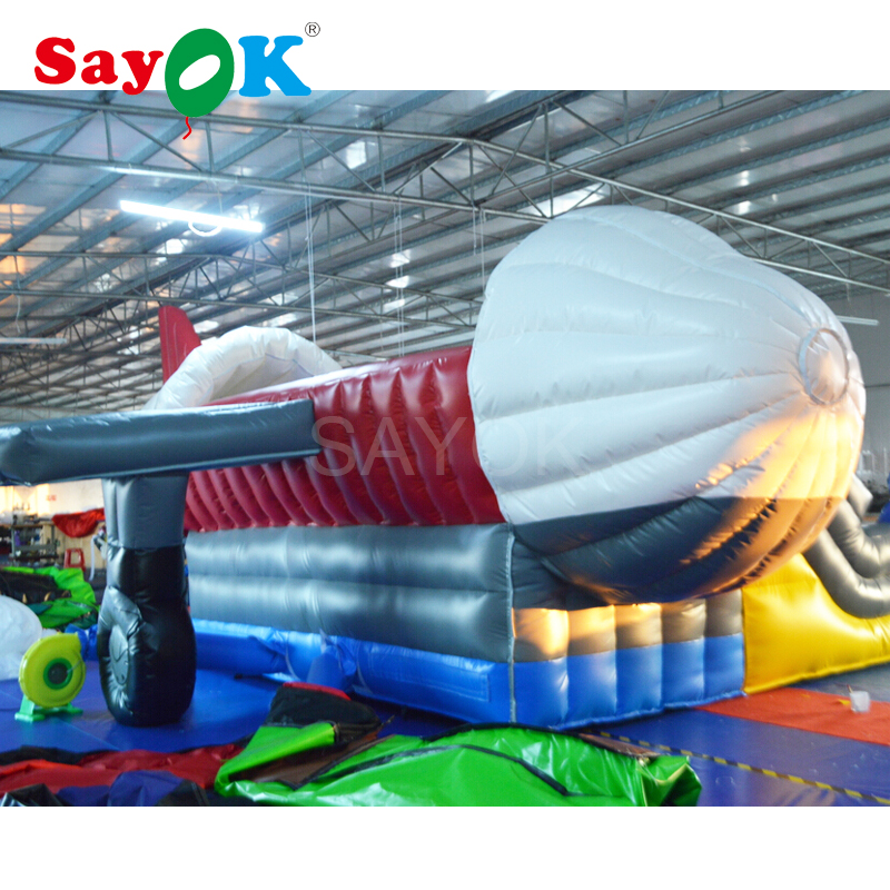 Inflatable Bouncy Castle Commercial Inflatable Bouncer Inflatable Air Plane Trampoline Giant Outdoor Games