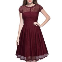 2017 Wine Navy Blue Black Casual Summer Dresses For Ladies Elegant Clothes Online Shop China Sexy