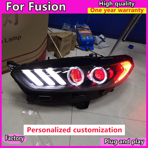 Image 3 - Car Styling for Ford Mondeo 2013 2016 LED Headlight for New Fusion  Head Lamp Dynamic turn signal LED DRL Bi Xenon HID