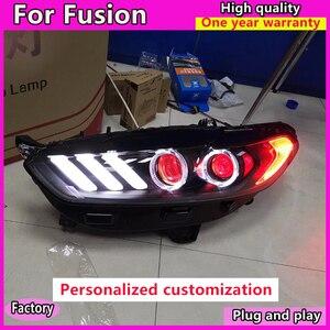 Image 3 - Style de voiture pour Ford Mondeo 2013 2016 phare LED pour nouvelle lampe frontale Fusion clignotant dynamique LED DRL bi xénon HID