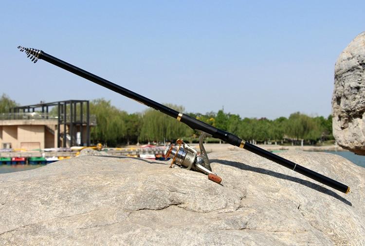 carbono seções longas vara de pesca xh