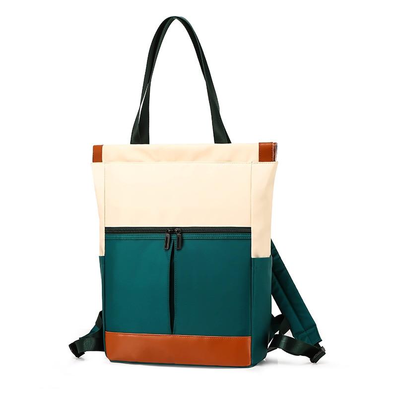 Nylon Waterproof 15.6 Laptop Backpack Women Large Capacity Ladies Hand Double Shoulder Bags Female Bagpack Satchel Travel Bolsa