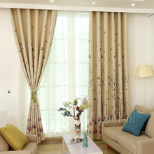 New arrival Pastoral Window Curtains For living Room/ kitchen room Thick blackout Curtains Window Treatment Free Shipping