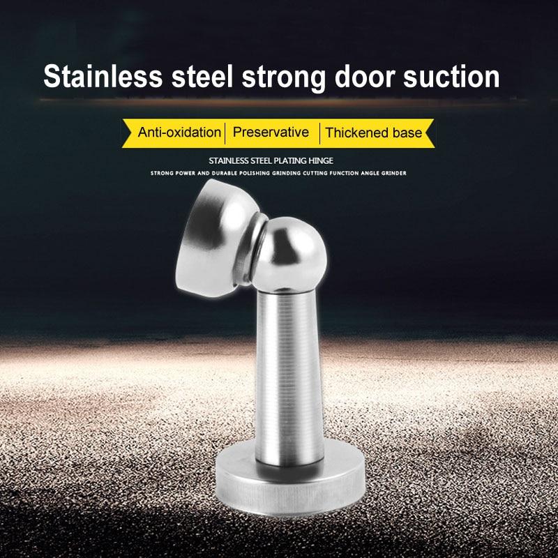 Tope de puerta, cerradura de Hardware de puerta silenciosa, Tope Deur, Tope de acero inoxidable, imán de puerta grueso, soporte de puerta, Tope de puerta