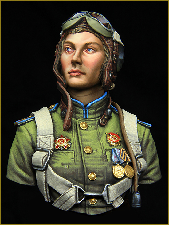 1/10 NIGHT WITCHES Soviet Soldier Regiment Bust  Toy Resin Model Miniature Resin Figure Unassembly Unpainted