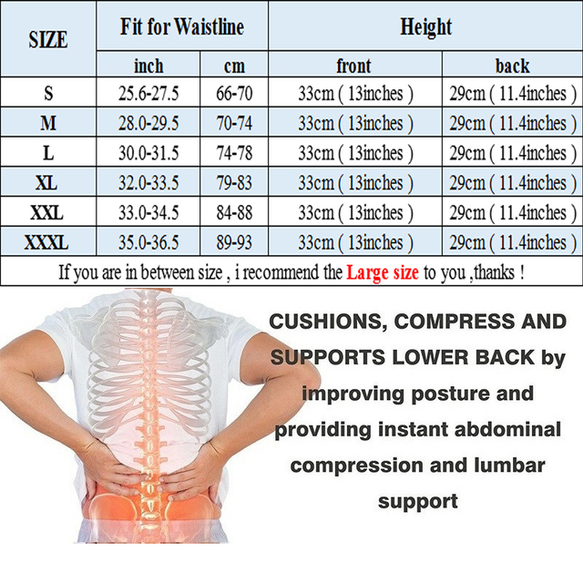 SEXYWG Gym Fitness Belt Men Women Waist Support Belt Sweat Corset Weight Loss Exercise Belts Brace Slimming Strap Waist Trainer 5