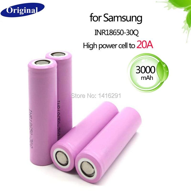 4PCS INR18650-30Q 3000mah 20A Power 18650 Li-ion Battery for Samsung