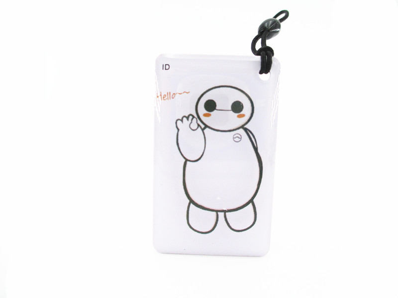 free shipping  125Khz RFID Readable and writable Key Tags Cartoon EM4305 Rewritable Proximity Access control ID Key Card
