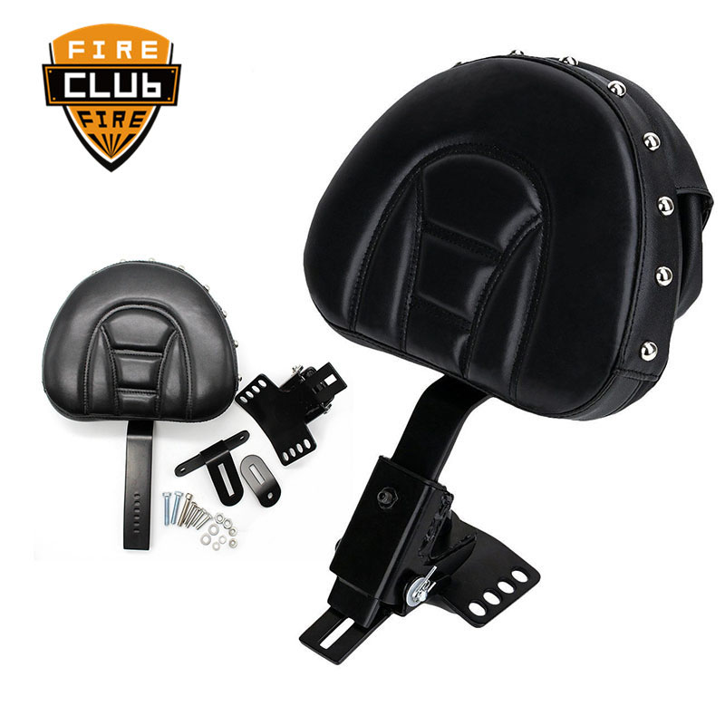 Motorcycle Adjustable New Plug In Driver Rider Seat Backrest Kit For Harley Touring Electra Road Street Glide Road King 97-15