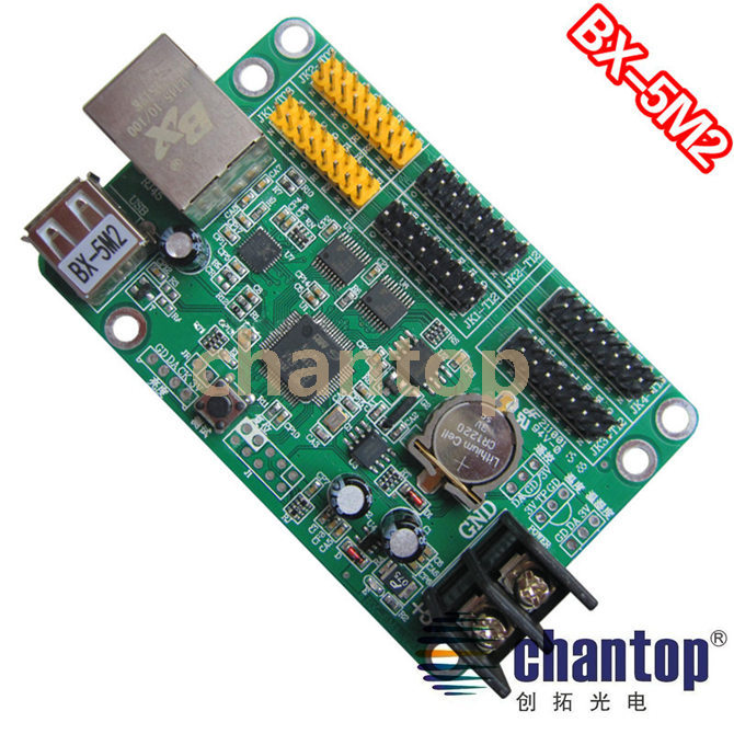 все цены на BX-5M2 ethernet + USB communication LED board display module controller system network RJ45 interface single&dual color support онлайн