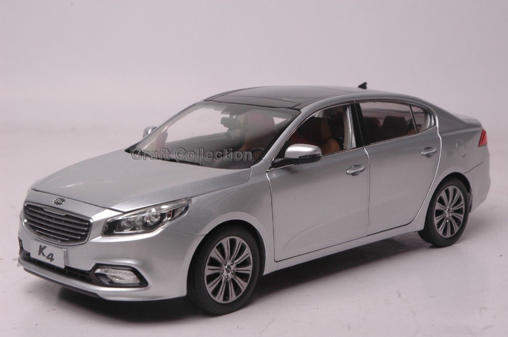 * Silver 1:18 KIA K4 Alloy Model Diecast Cars Toy Car Gifts Craft Kia Collection