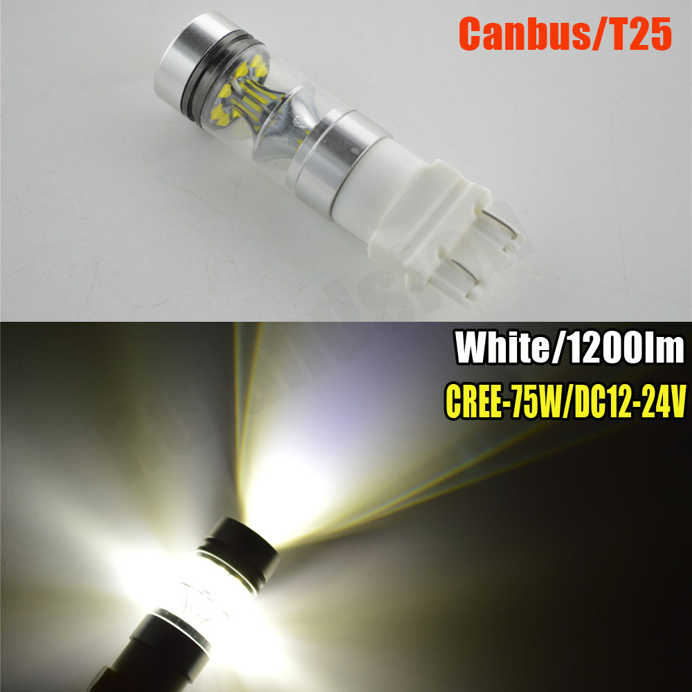 2x High Power P27/7W 3157 led car styling Dual Light Function LED Amber Yellow White Red car Brake lights bulbs Red Car Light