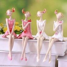 2 pçs belo anjo resina artesanato estatuetas de fadas casamento decoração para casa diy ornamento pixie fada estatueta em miniatura dollhouse