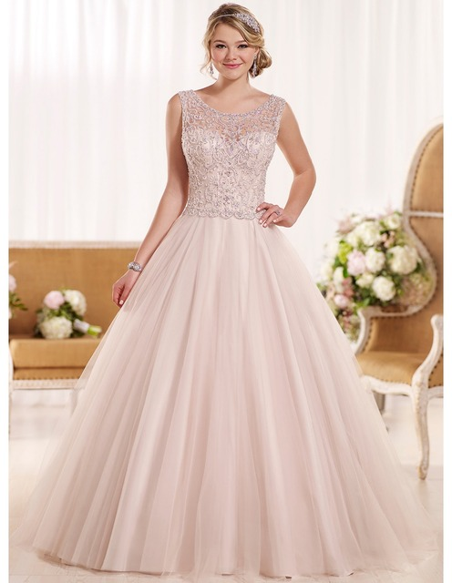 Y Backless China Blush Pink Wedding Dresses Plus Size 2017 Luxury Crystal Women Bridal